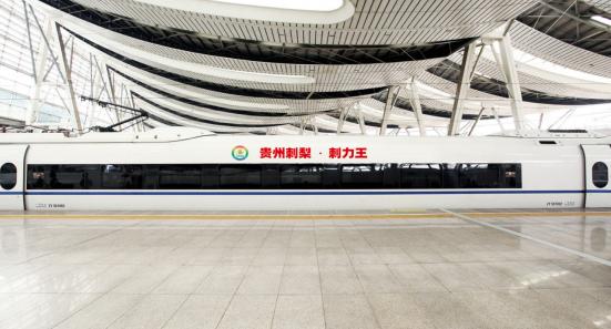 """""""贵州刺力王""""全国首列天然大健康刺梨饮品高铁列车正式发车"""